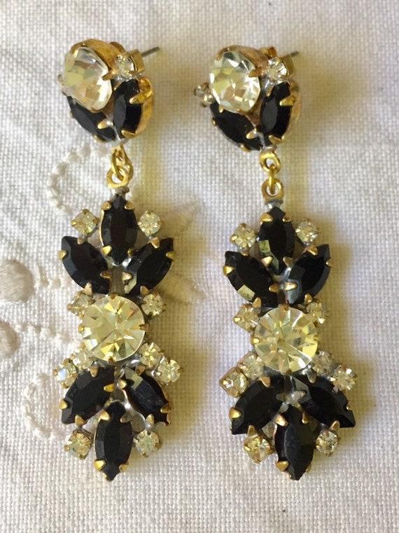 Beautiful   vintage austrian glass  earrings - image 1