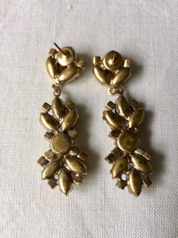 Beautiful   vintage austrian glass  earrings - image 5
