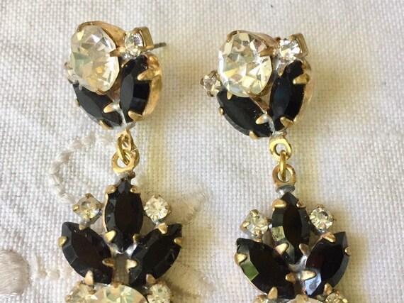 Beautiful   vintage austrian glass  earrings - image 3
