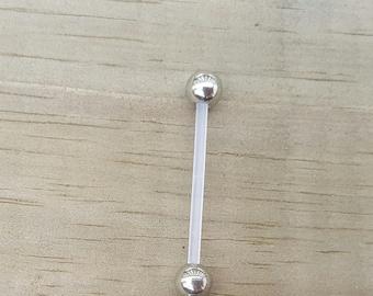 Flower Pregnancy Belly Button Ring, Bioflex 14 Gauage, Maternity Jewelry, Navel Piercing.