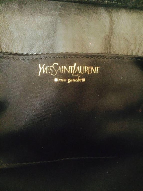 Authentic Vintage YSL Black Velvet Luxembourg Clutch Bag   Etsy 8e1afd937d