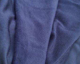 Navy Blue Cotton Fleece Fabric (1 1/2 Yards)
