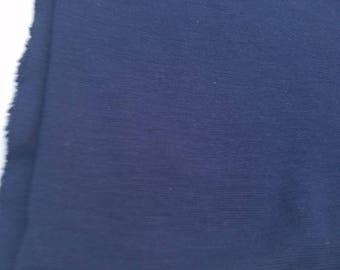 Dark Blue Poly Cotton Blend Fabric (1 Yard)