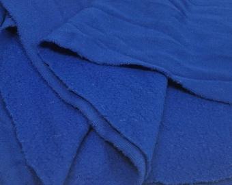 Vintage Terry Cloth Royal Blue Fabric (2 Yards)