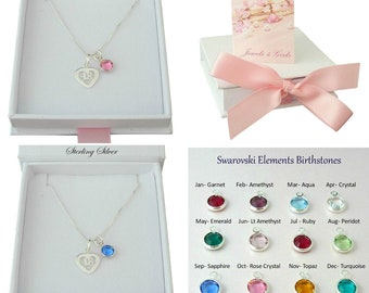 Sterling Silver 18 Necklace With Birthstone Gift For 18th Birthday Boxed Special Daughter Sister Granddaughter Goddaughter