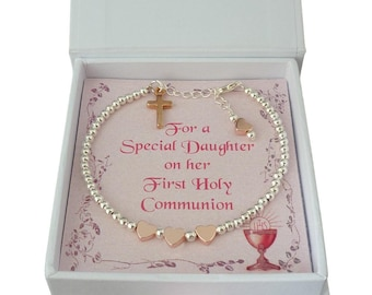 Bracelet for Girls First Holy Communion Day in Gift Box for Goddaughter, Granddaughter, Daughter, Niece, Sister etc