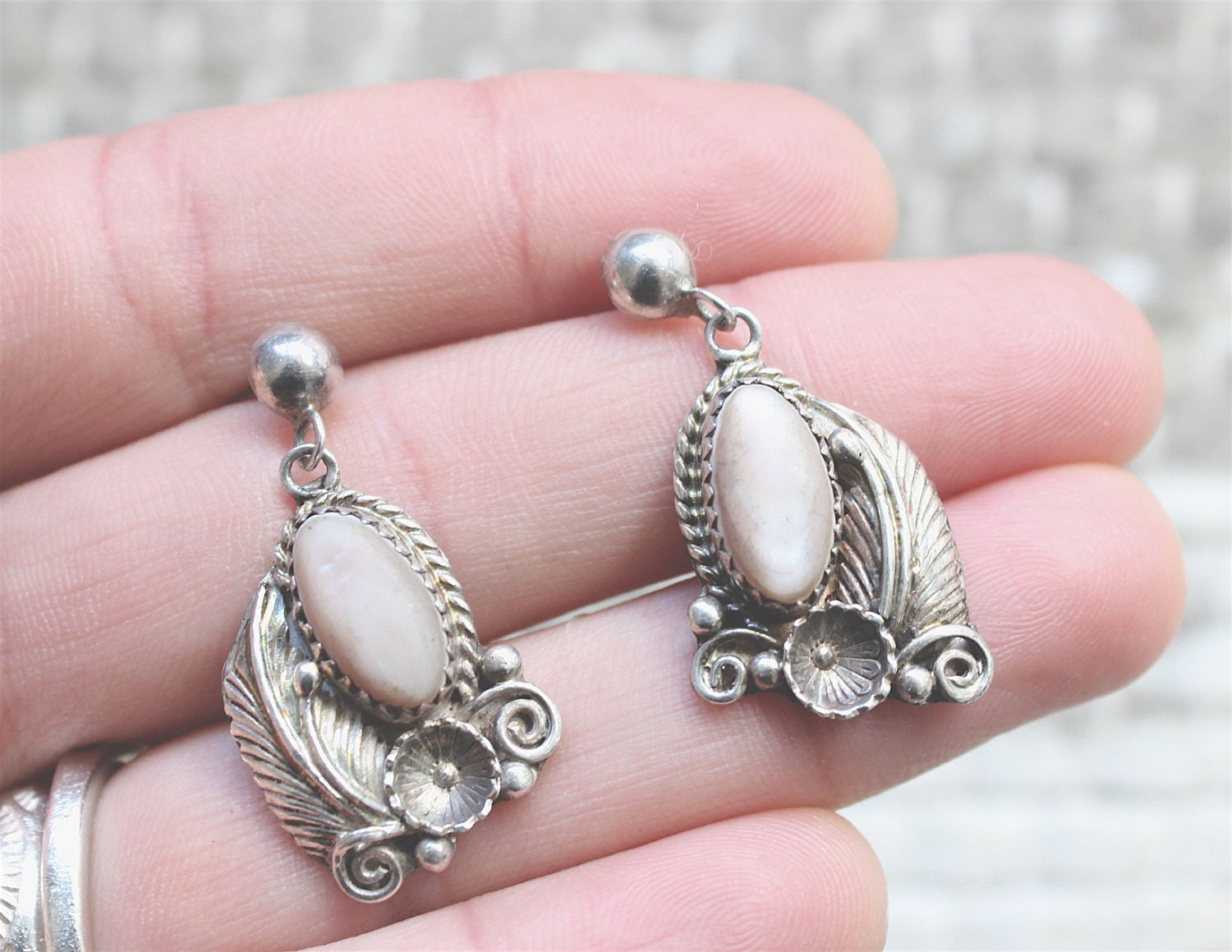 988cbd725 Beautiful Old Pawn Navajo Sterling Silver Fannie Platero Signed Pink ...