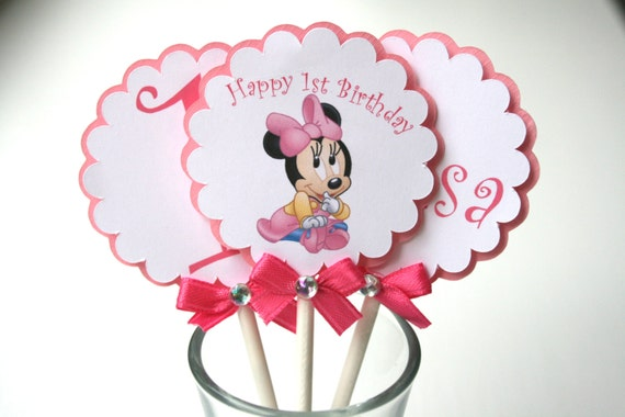 Minnie Mouse Cupcakes Toppers