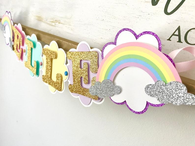 Rainbow Birthday Banner Rainbow Birthday Decorations