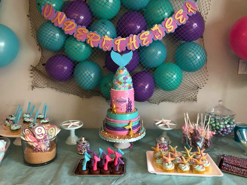Mermaid Birthday Party Under The Sea Themed