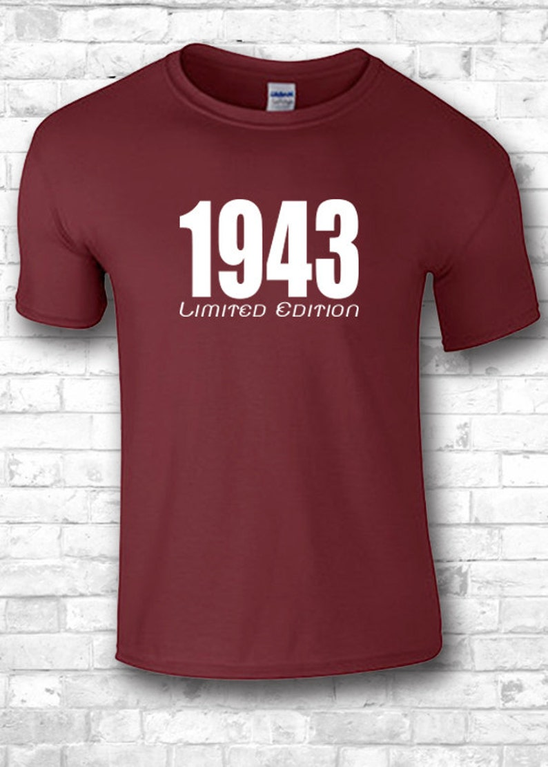 75th Birthday Gift T Shirts 1943 Customized