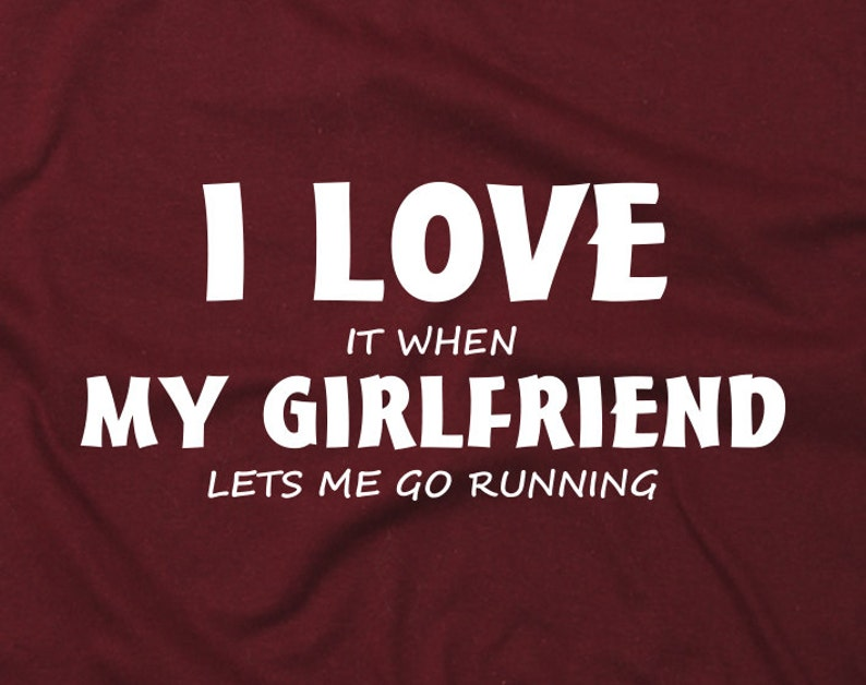 I LOVE MY WIFE WHEN SHE LETS ME GO RUNNING funny t shirts