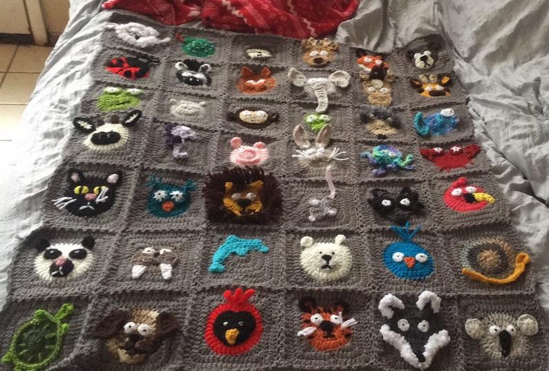 Custom Made Crochet Animal Blanket Etsy