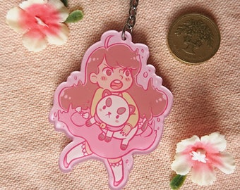 Double sided Bee and Puppycat Acrylic keychain (6.5cm)
