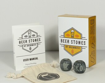 Beer Stones Set - 2 Olives - Perfect Your Pint!
