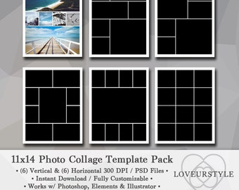 24x36 photo template photo collage poster template etsy