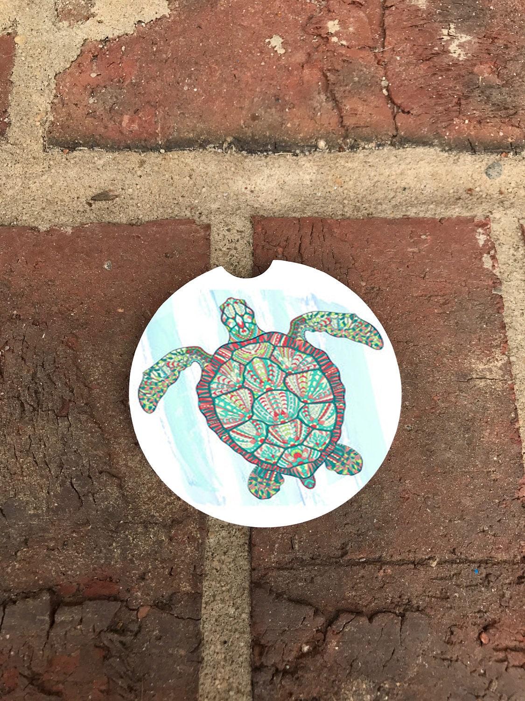 Magnifiques tortue aquarelle voiture sous verres lot de 2 etsy - Voiture tortue ...