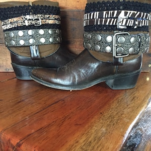 Pink upcycled cowgirl boots girls size 10