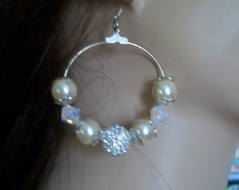 brilliant and mother of Pearl Earring