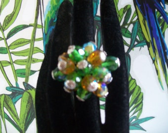 glass Pearl Adjustable ring