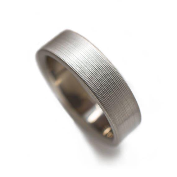 Classic Titanium Ring With Brushed Finish Titanium Rings For Etsy