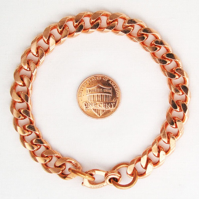 bbf9d37f4f8b4 Solid Copper Heavy Cuban Curb Link Bracelet BC77 Copper Bracelet Chains For  Men And Women