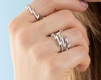 f2440ac291541 Lightning bolt ring | Etsy