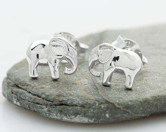 Sterling Silver Elephant Stud Earrings, Silver Elephant Earrings, Elephant Gifts, Elephant Jewellery, Elephant Studs, Elephant Jewelry