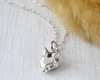 Sterling Silver Fox Charm Necklace - Personalised Fox Necklace - Foxy Gift - Fox Jewelry - Silver Fox Necklace