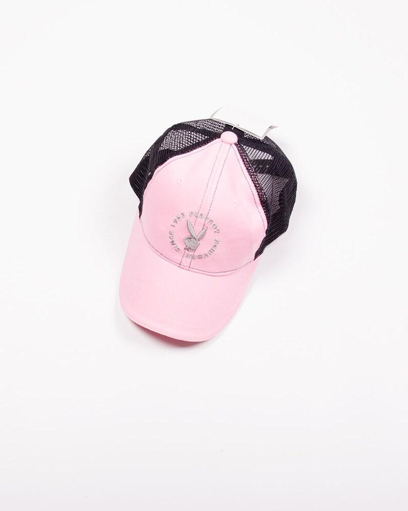 56b55584 Vintage Playboy 90s Pink Trucker Cap | Etsy