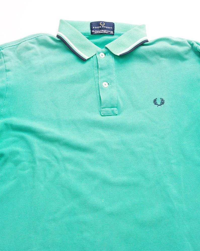 e8744e7b Vintage Fred Perry 90s Long Sleeved Polo Shirt | Etsy