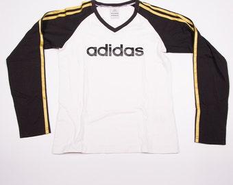 Adidas Long Sleeved Logo Stripe Tshirt