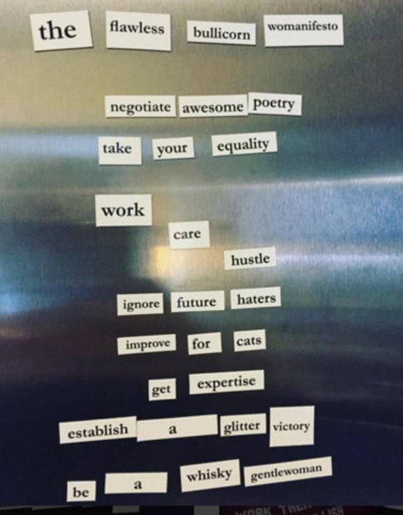 Magnétique manifeste (Wo) Kit: féministe-ifier votre réfrigérateur