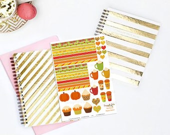 50% OFF DIY October Fall Harvest Printable Planner 48 Sticker Sheet 4 of Kit  in PDF and jpeg