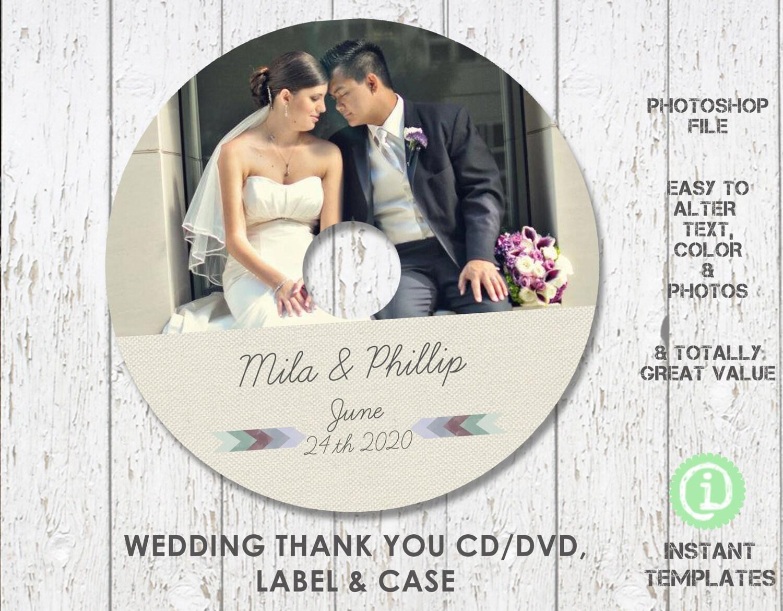 Boda CD DVD plantilla plantilla de Photoshop CD CDW003