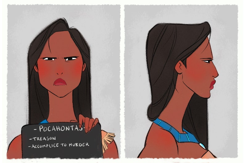Princess Mugshots Pocahontas image 0