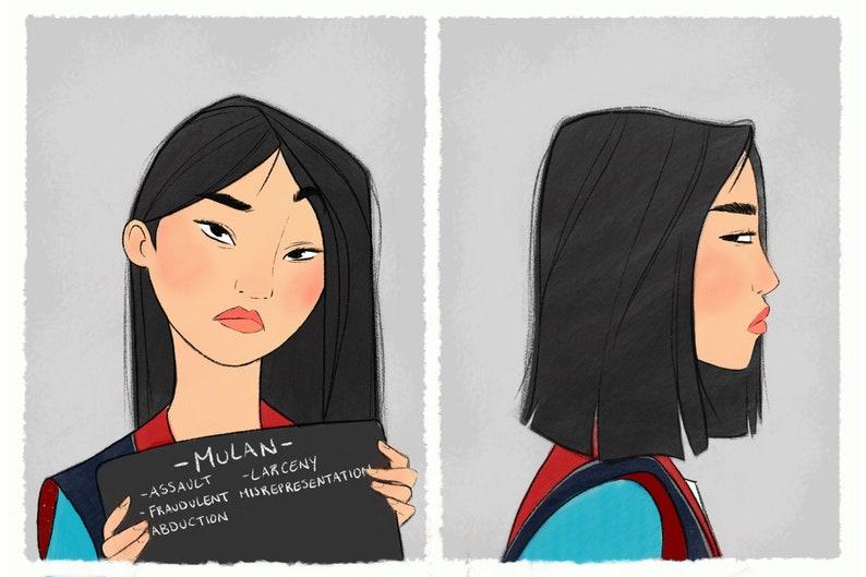 Princess Mugshots Mulan image 0