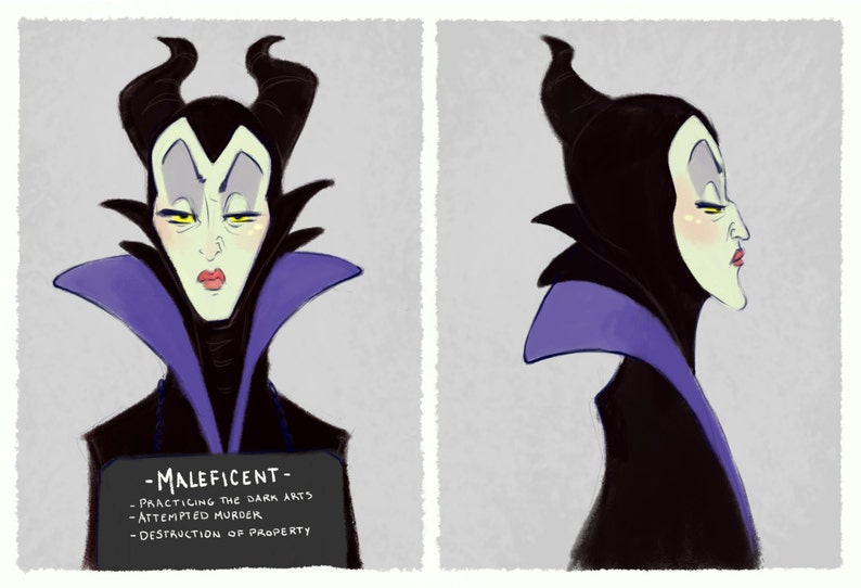 Villain Mugshots Maleficent image 0