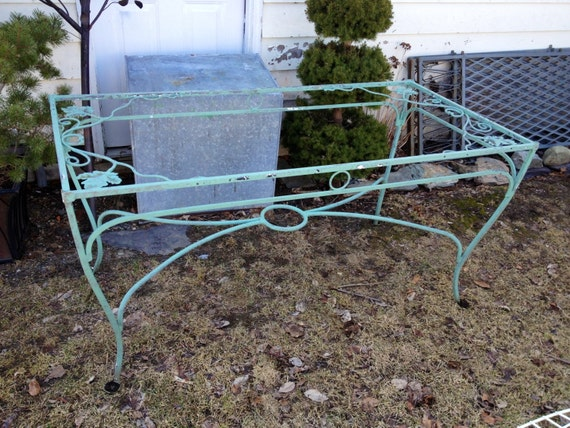 Vintage Wrought Iron Salterini Maple Leaf Dining Table | Etsy