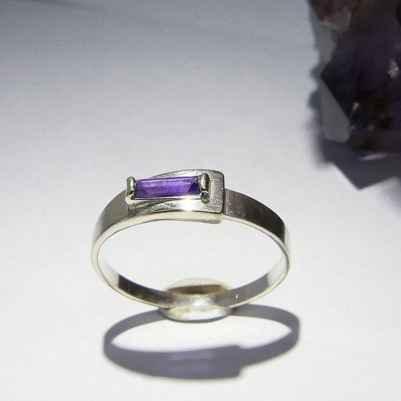amethyst Big Amethyst diamond ring February birthstone natural amethyst cocktail jewelry baguette setting