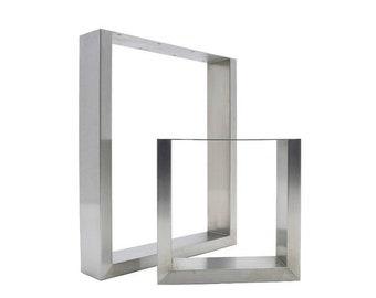 ON SALE 2 x Stainless Steel Table Legs - Modern Sleek Design