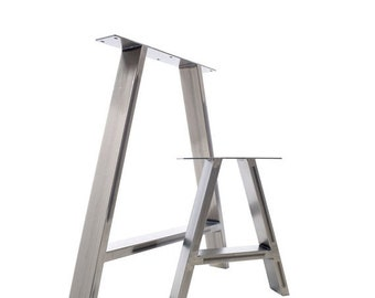 ON SALE 2x Table Legs - Dining 'A' Pedestals in Industrial Steel
