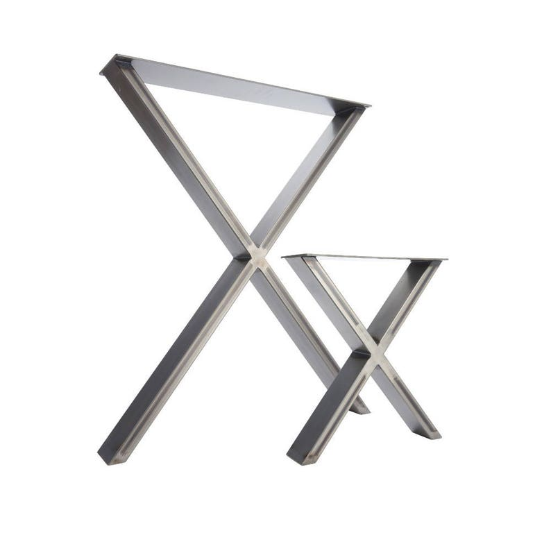 2 x Table Legs  Dining 'X' Pedestals in Industrial image 0