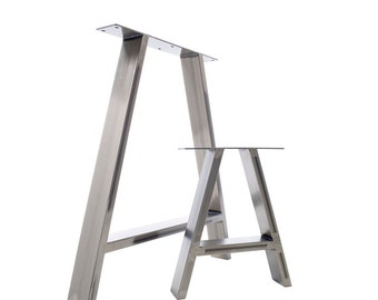 2x Table Legs - Dining 'A' Pedestals in Industrial Steel