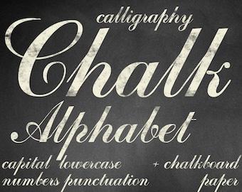 Digital Beige Chalkboards Alphabet for scrapbooking, chalk clipart, Papercrafts, Wedding Decor, Instant Download, printable lettering (7)