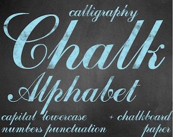 Digital Cyan Chalkboards Alphabet for scrapbooking, chalk clipart, Papercrafts, Wedding Decor, Instant Download, printable lettering (5)