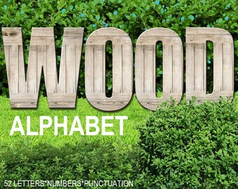 Digital Wooden Alphabet for scrapbooking, wood clipart, Papercrafts, Decor, Pillow, Tea Towel, Printable Lettering, Instant Download, #31