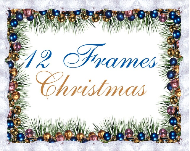 12 Digital Winter and Christmas frames new year clipart | Etsy