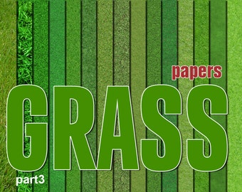 Digital Grass Paper Pack, 15 printable Digital Scrapbooking papers, fotorealistic Digital Collage, grass clip art, Instant Download, set 18