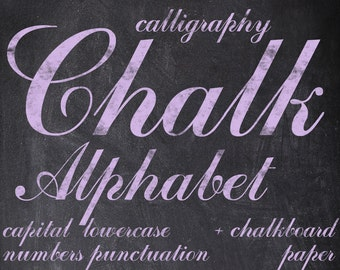 Digital Lilac Chalkboards Alphabet for scrapbooking, chalk clipart, Papercrafts, Wedding Decor, Instant Download, printable lettering (4)